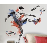 Room Mates 22 Piece Studo Men's Soccer Champion Peel and Stick Giant Wall Decals Set