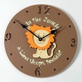 Forest Creations 18'' Lion Wall Clock; Coral