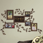 Room Mates 50 Piece Deco Family Frames Peel and Stick Wall Decal Set