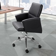dCOR design Chieftain Low Back Office Chair; Black