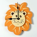 Forest Creations Lion Head 18'' Wall Clock; Cherry Pink