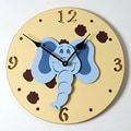 Forest Creations 18'' Elephant Head Wall Clock; Primary Blue