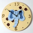 Forest Creations 18'' Elephant Head Wall Clock; Dark Chocolate