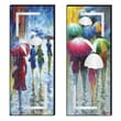 Elico LTD Color Me Rain Cutout 2 Piece Painting Print Plaque Set
