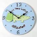 Forest Creations 18'' Alligator Wall Clock; Dark Chocolate