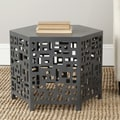 Safavieh Kelby End Table; Charcoal Grey