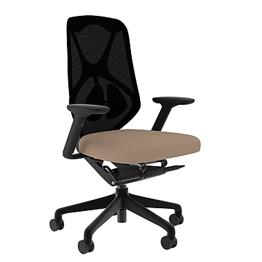 Compel Office Furniture Suit Mesh Task Chair with Arms; Chalk