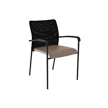 Compel Office Furniture Match Mesh Guest Chair with Vinyl Fabric Seat; Pearl