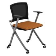 Compel Office Furniture Ziggy Mesh Nesting Chair with Arms; Orange
