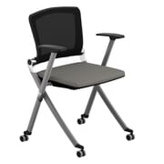 Compel Office Furniture Ziggy Mesh Nesting Chair w/ Arms; Mercury