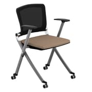 Compel Office Furniture Ziggy Mesh Nesting Chair w/ Arms; Chalk