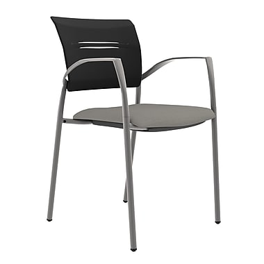 Compel Office Furniture Octiv Guest Chair with Arms; Mercury