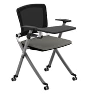 Compel Office Furniture Ziggy Mesh Nesting Chair with Tablet Tray; Mercury