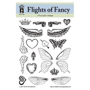 Hot Off the Press Flights of Fancy Clear Stamp Set