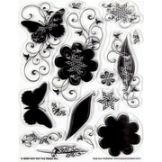 Hot Off the Press Silhouettes & Shadows Clear Stamp Set