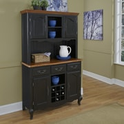 Home Styles French Countryside Buffet and Hutch; Black