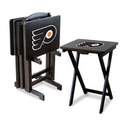 Imperial NHL TV Trays with Stand (Set of 4); Philadelphia Flyers