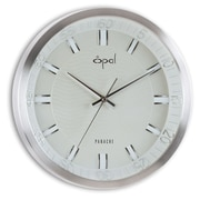 Opal Luxury Time Products 14'' Round Aluminium Case Wall Clock