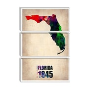 iCanvas Naxart 'Florida Watercolor Map' Graphic Art on Canvas; 18'' H x 12'' W x 0.75'' D