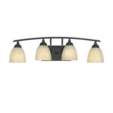 Designers Fountain Tackwood 4 Light Vanity Light; Burnished Bronze