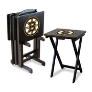 Imperial NHL TV Trays with Stand (Set of 4); Boston Bruins
