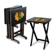 Imperial NHL TV Trays with Stand (Set of 4); Chicago Blackhawks