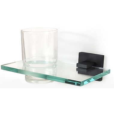 Alno Contemporary II Tumbler and Tumbler Holder; Bronze