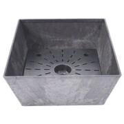 Novelty Ella Low Square Planter Box; Black