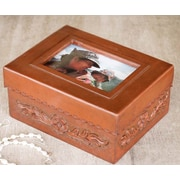 Novica The Abel Rios Leather and Mohena Wood Picture Frame Box