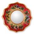 Novica The Gelacio Giron Reverse Painted Glass Mirror; Strawberry