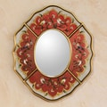 Novica The Gelacio Giron Reverse Painted Glass Mirror