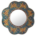 Novica The Asunta Pelaez Mirror; Blue