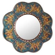 Novica The Asunta Pelaez Mirror; Blue
