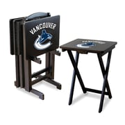 Imperial NHL TV Trays with Stand (Set of 4); Vancouver Canucks