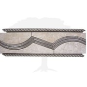 Interceramic Montreaux 12'' x 4'' Ceramic Border Tile in Gris/Nickel