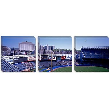 iCanvas Panoramic Yankee Stadium NY Photographic Print on Canvas; 12'' H x 36'' W x 0.75'' D