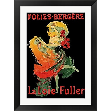 Evive Designs Folies-Bregere La Loie Fuller Framed Vintage Advertisement