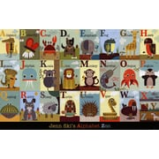 Evive Designs Alphabet Zoo Paper Print