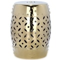 Safavieh Lattice Coin Garden Stool; Gold