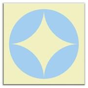 Oscar & Izzy Folksy Love 4-1/4'' x 4-1/4'' Satin Decorative Tile in Peek Light Blue-Yellow