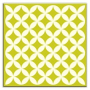 Oscar & Izzy Folksy Love 4-1/4'' x 4-1/4'' Satin Decorative Tile in Needle Point Avocado