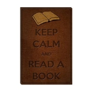 iCanvas Keep Calm and Read a Book Textual Art on Canvas; 40'' H x 26'' W x 1.5'' D