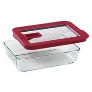 Pyrex No Leak Lids 3 Cup Rectangular Storage Dish
