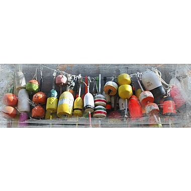 Graffitee Studios Coastal Buoys on Rope Photographic Print on Wrapped Canvas
