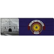 iCanvas El Paso Flag, Mission Trail w/ Panoramic Graphic Art on Canvas; 12'' H x 36'' W x 1.5'' D