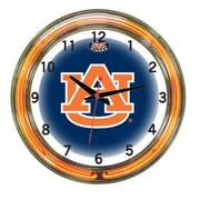 Wave 7 NCAA 18'' Team Neon Wall Clock; Auburn