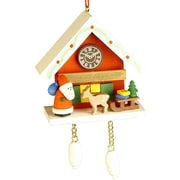 Christian Ulbricht Santa with Deer Cuckoo Clock Ornament