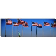 iCanvas Panoramic Flags New York Photographic Print on Canvas; 24'' H x 72'' W x 1.5'' D