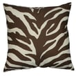Karin Maki Zebra Synthetic Square Pillow; Brown