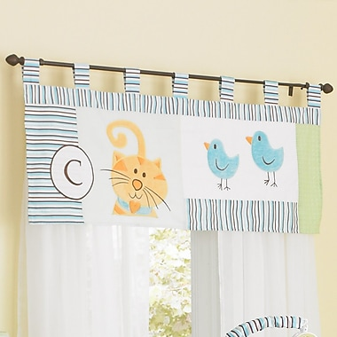 Laugh, Giggle & Smile ABC Animal Friends 44'' Window Curtain Valance